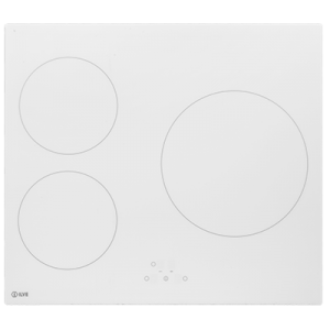 <span>60cm INDUCTION COOKTOP </span>3 ZONE WHITE GLASS