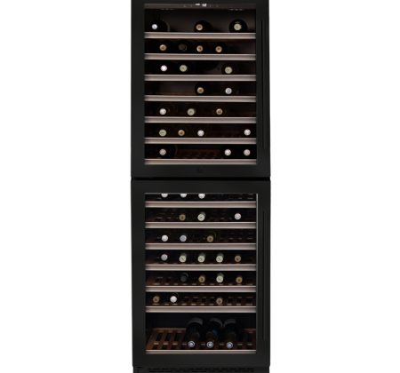 <span>DUAL ZONE DOUBLE DOOR WINE CELLAR TOWER</span>154 BOTTLES AVAILABLE WITH LEFT OR RIGHT HINGE