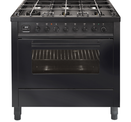 <span>NERO LUSSO - L096WMP/MGD</span>90CM FREESTANDING COOKER