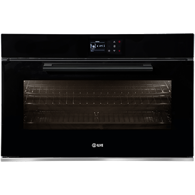 <span>90CM BUILT-IN ELECTRIC OVEN</span>14 multi-function black glass