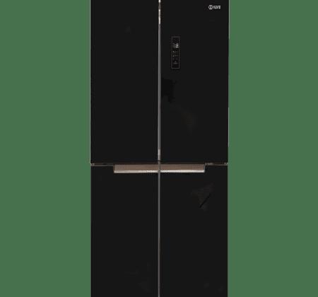 <span>FOUR DOOR REFRIGERATOR & FREEZER</span>Black Glass